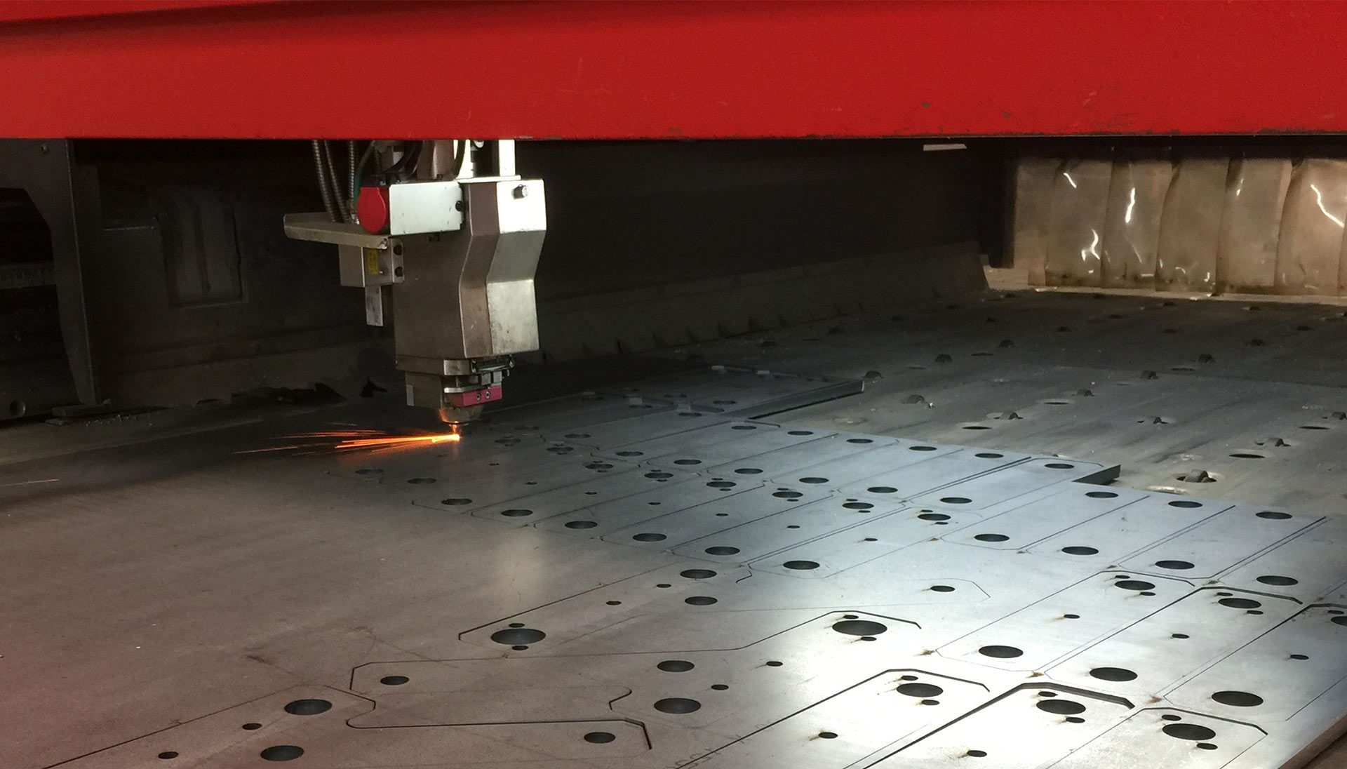 CNC laser cutting steel