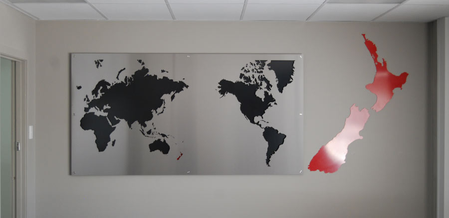 Laser cutting map