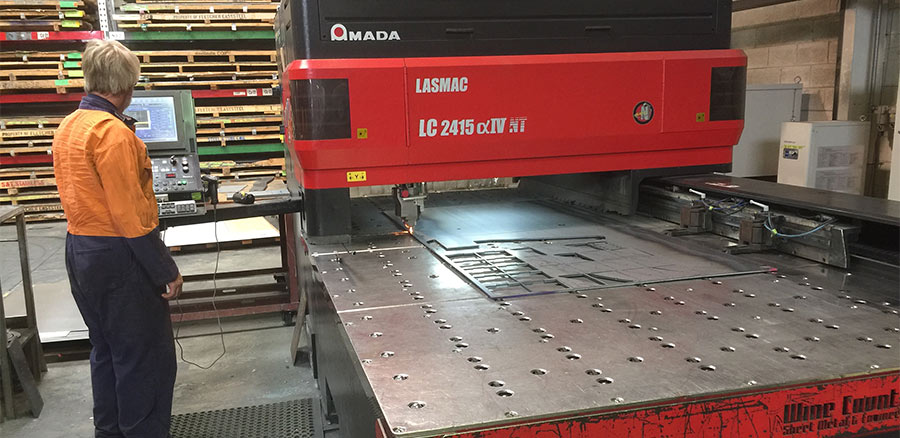 Precision CNC steel laser cutting